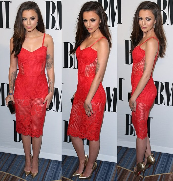 Cher Lloyd flaunted her legs and toned figure