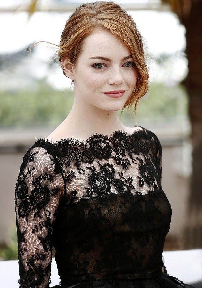 Emma Stone at a photocall for her latest film,Irrational Man, at the 68th Annual Cannes Film Festival in Cannes, Frances on May 15, 2015