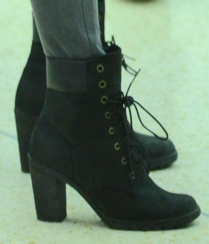 Megan Fox in towering vintage-inspired booties