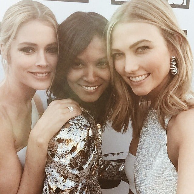 Liya Kebede's Instagram picture of herself with fellow models Doutzen Kroes and Karlie Kloss at the 2105 Cannes Film Festival -- posted on May 13, 2015