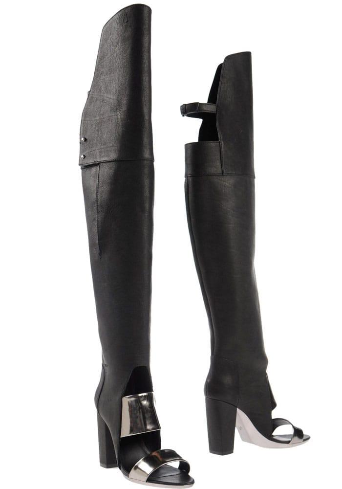 31 Phillip Lim Ora Open Toed Boots in Black
