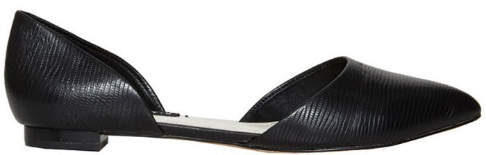 Alice and Olivia Hilary Lizard Embossed Leather Flat
