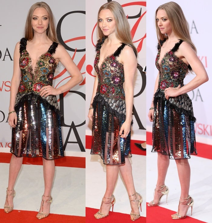 Amanda Seyfried at the 2015 CFDA Fashion Awards held at Alice Tully Hall at Lincoln Center in New York City on June 1, 2015