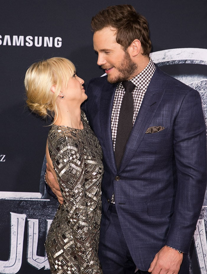 """Anna Faris and Chris Pratt at the premiere of Universal Pictures' """"Jurassic World"""""""
