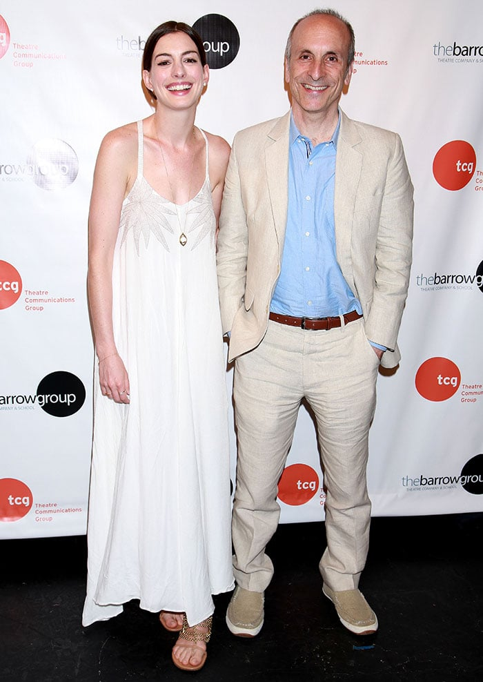 Acting coach Seth Barrish was joined by Anne Hathaway at his book launch