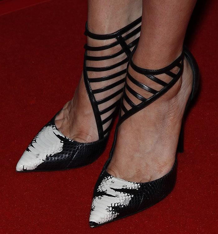 "Brittany Snow's hot feet in Tamara Mellon ""Eyelash"" pumps"