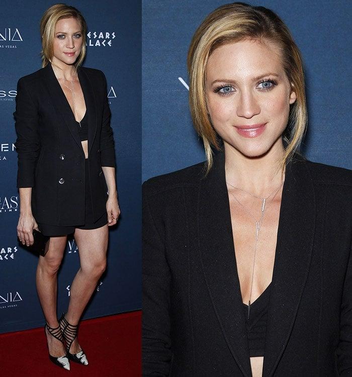 Brittany Snow's jewel-like eyes at Vegas Magazine's 12th-anniversary celebration