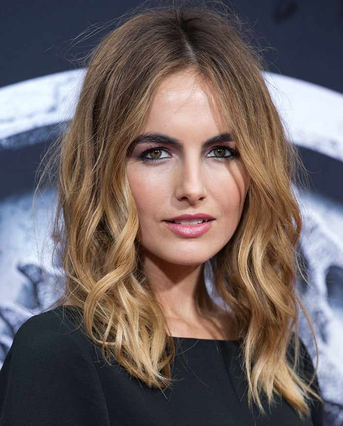 Camilla Belle's just-got-out-of-bed hairstyle