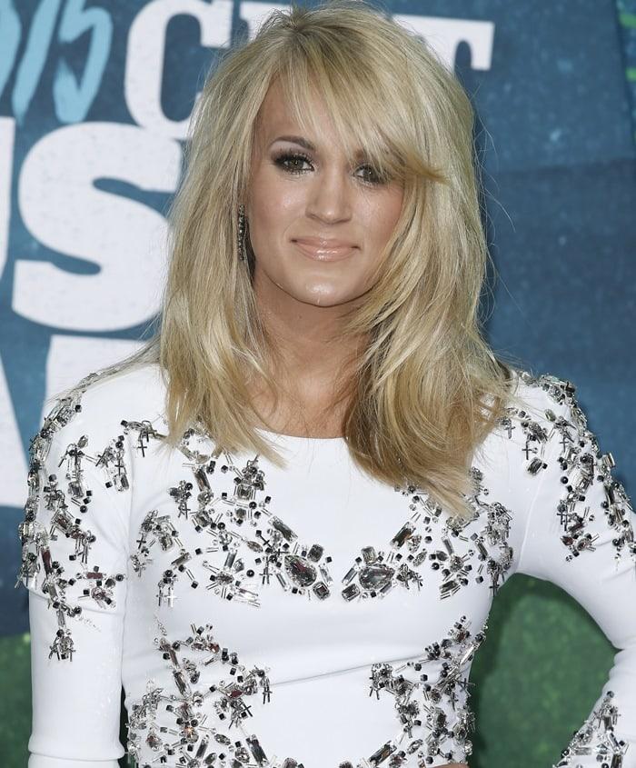 Carrie Underwood accessorized withKimberly McDonald jewelry