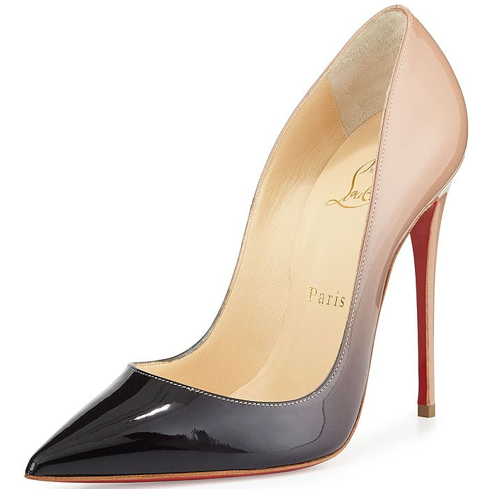 """Christian Louboutin """"So Kate"""" Degrade Pumps in Black/Nude"""