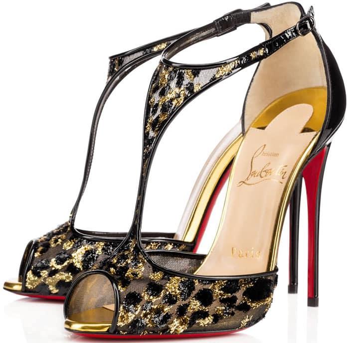 Christian Louboutin Tiny Peep-Toe Heels