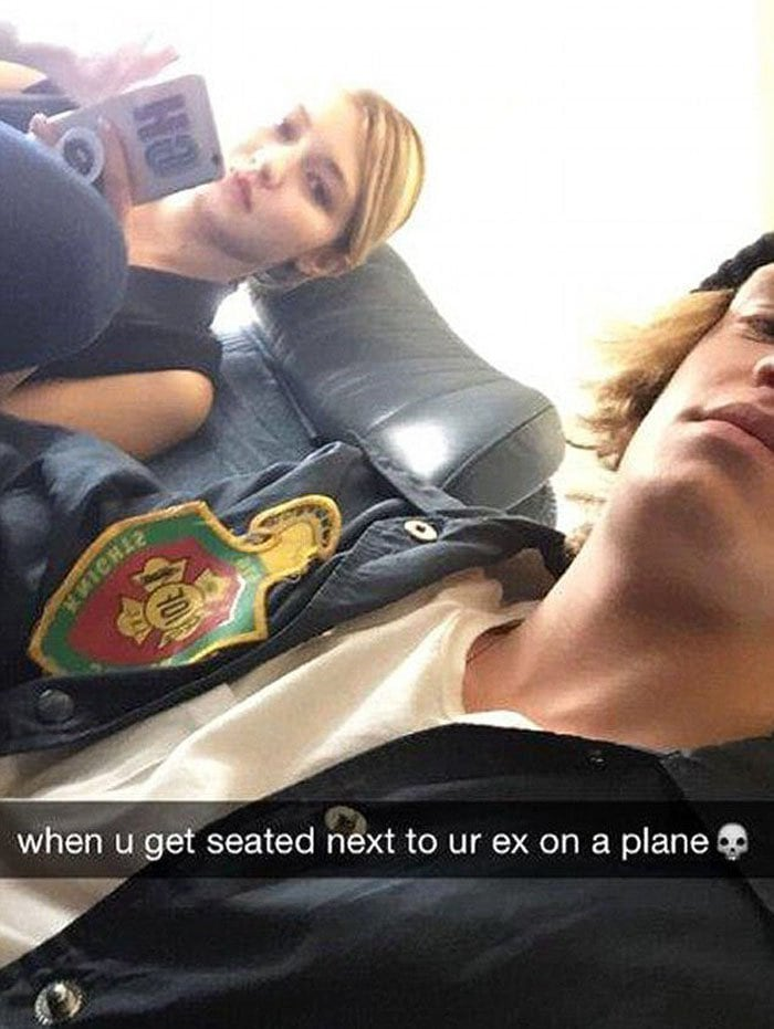 Gigi Hadid and her ex-boyfriend Cody Simpson get seated beside each other on the plane ride home from Toronto, Canada