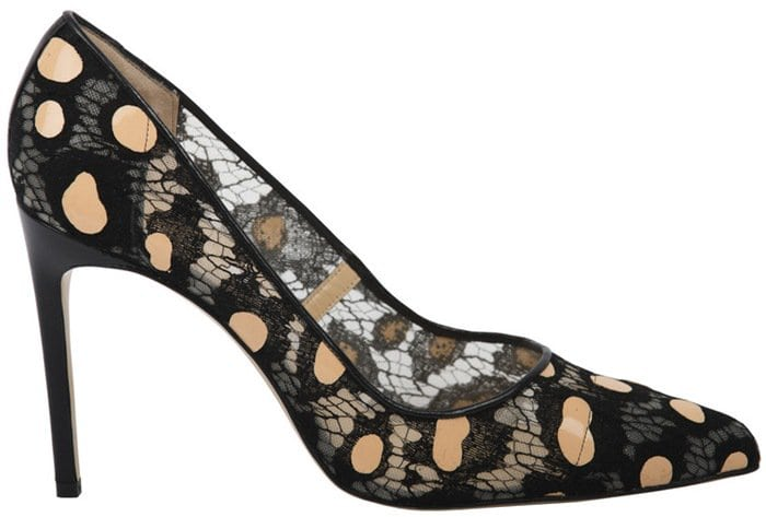 'Daphne Bis' - Camouflage Black Lace Single Sole Pump