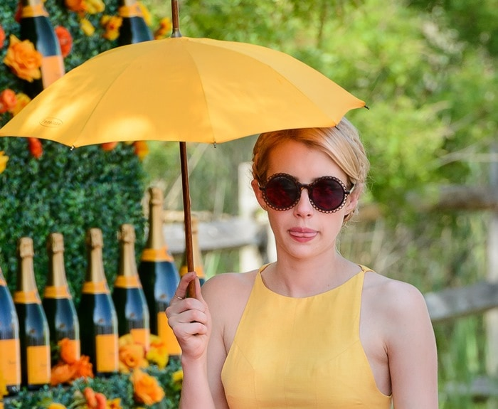 Emma Roberts at the 8th annual Veuve Clicquot Polo Classic at Liberty State Park in Jersey City on May 30, 2015