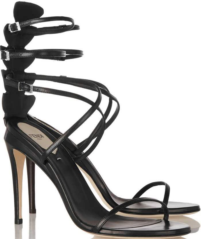 Fendi Crocodile Leather Sandals