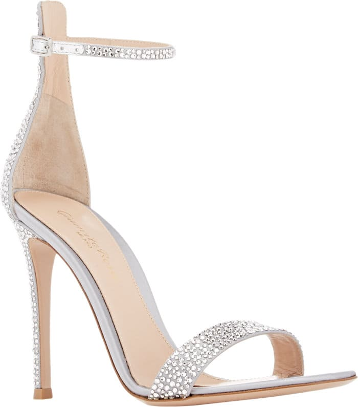 Gianvito Rossi Embellished Glam Ankle-Strap Sandals
