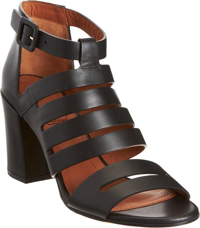 Givenchy Black Cutout Block Heel Sandal