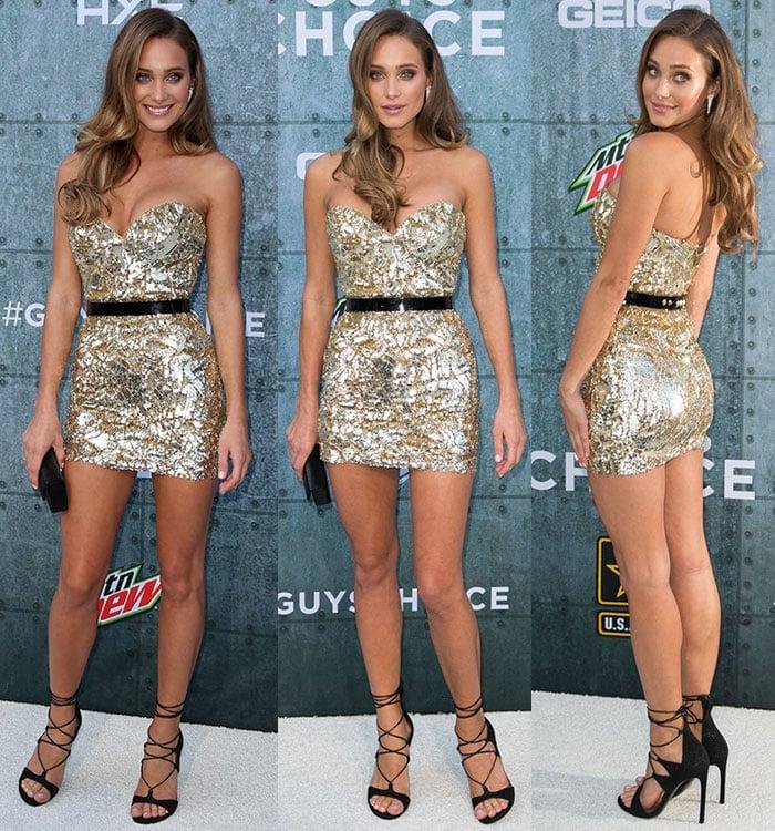 Hannah Davis flaunts her sexy legs at Spike TV's Guys Choice Awards 2015