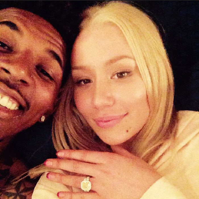 Iggy Azalea shows off her engagement ring from Nick Young