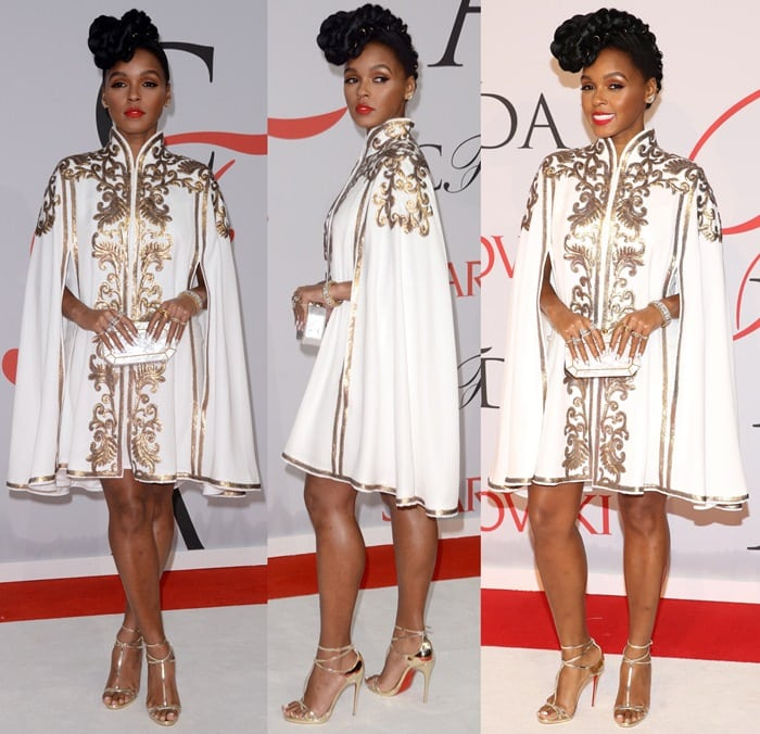 Janelle Monáe Robinson at the 2015 CFDA Fashion Awards held at Alice Tully Hall at Lincoln Center in New York City on June 1, 2015