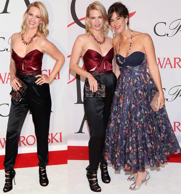 January Jones and Irene Neuwirth at the 2015 CFDA Fashion Awards