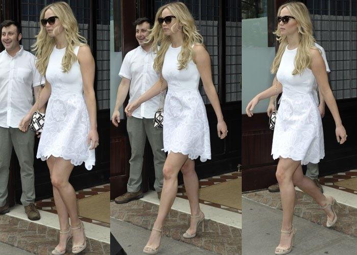 Jennifer Lawrence didn't even crack a smile for us