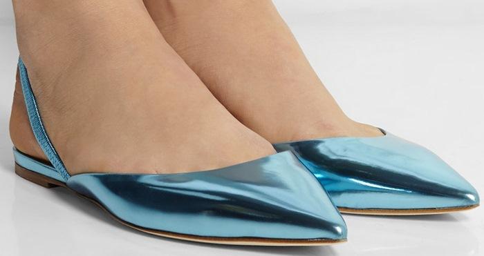 Jimmy Choo Genoa Blue Flats