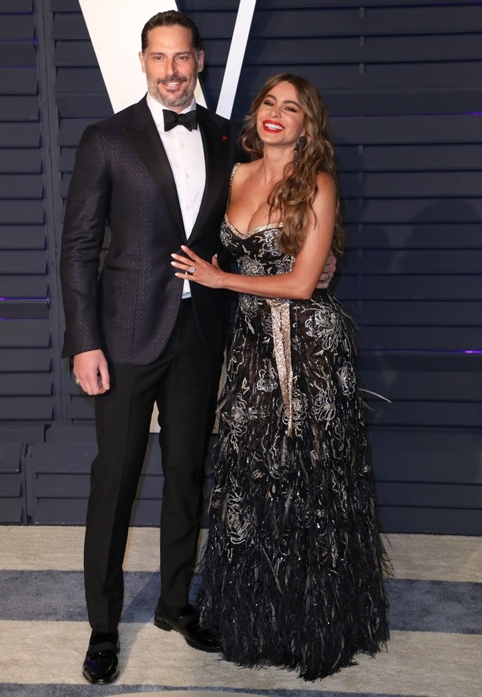 Sofia Vergara and her husband Joe Manganiello at the 2019 Vanity Fair Oscar Party