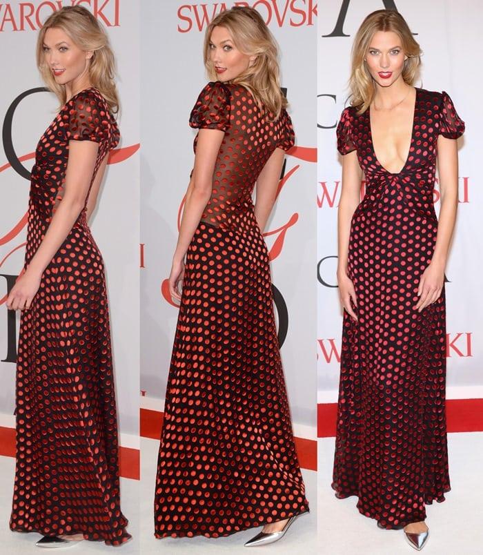 Karlie Kloss' chic polka dot dress from Diane von Furstenberg