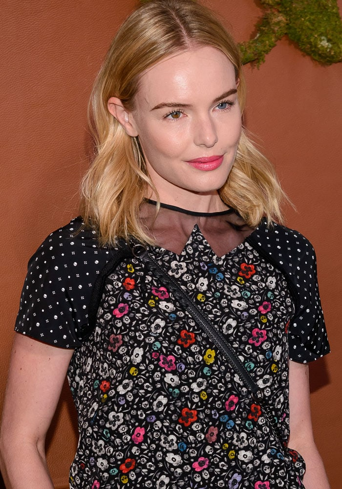 The cut neckline of Kate Bosworth's floral top