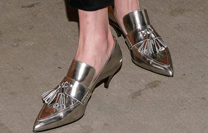 Kate Bosworth Coach Tasseled Heels 5
