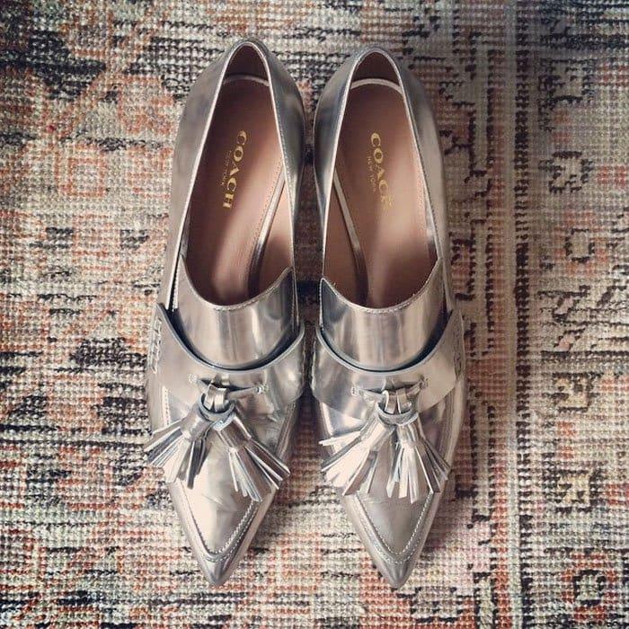 Kate Bosworth Coach Tasseled Heels IG