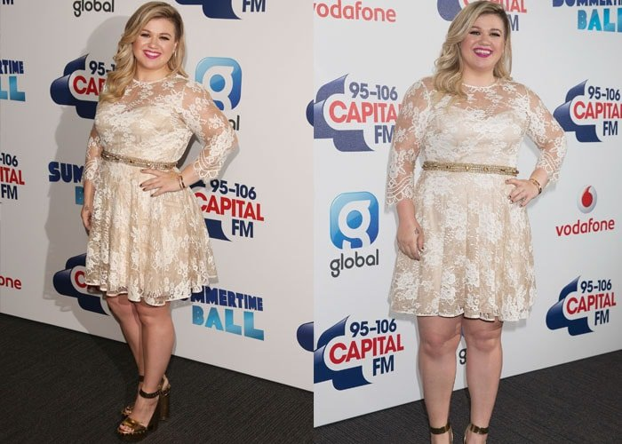 Kelly Clarkson has been fat shamed after showing off her post-baby body