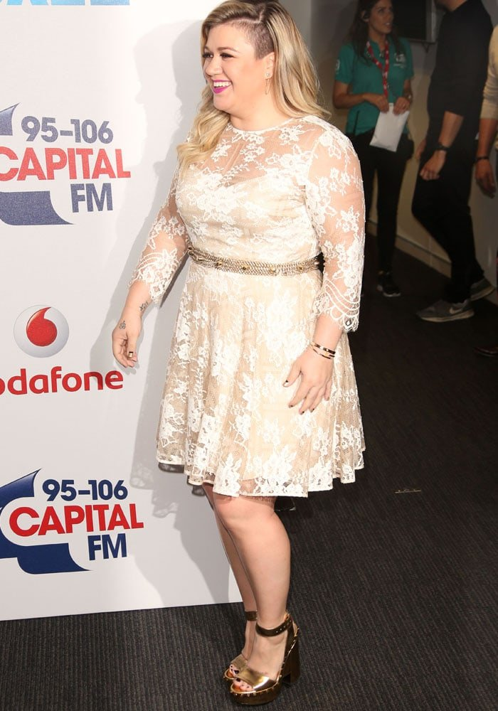 Kelly Clarkson arrives at the Capital FM Summertime Ball