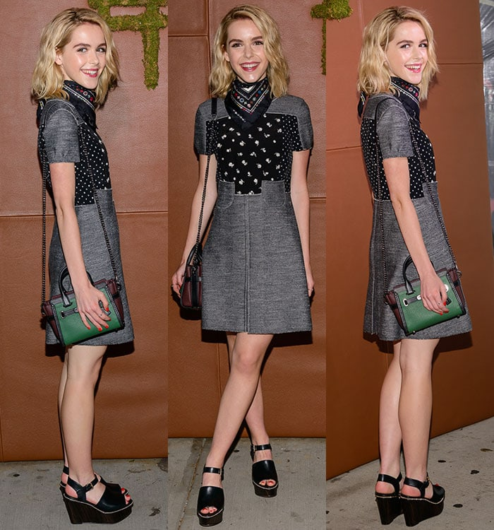 Kiernan Shipka flaunted her legs at Coach and Friends of the High Line's 5th annual summer party