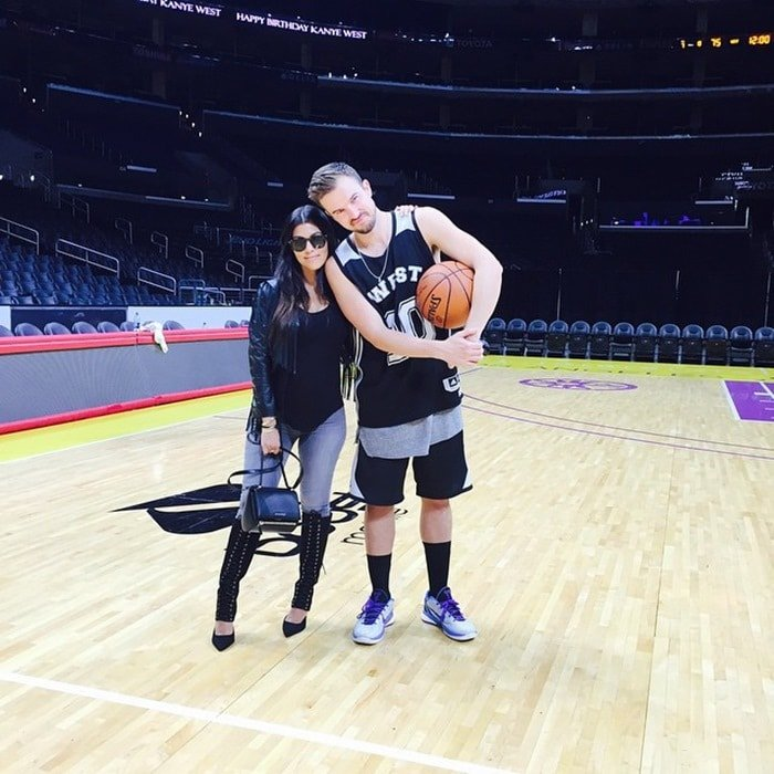 """Shared by Kourtney Kardashian with the caption """"Me and my favorite pastor just playin' some ball. #HappyBirthdayYe"""""""