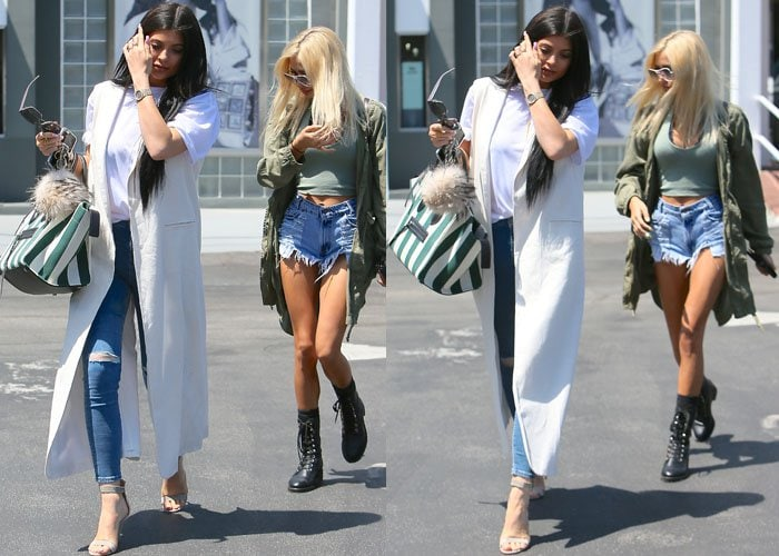 Kylie Jenner leaving Fred Segal with Pia Mia in Los Angeles