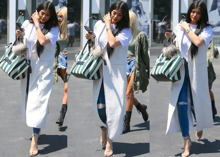 Kylie Jenner carried a colorful tote from Céline