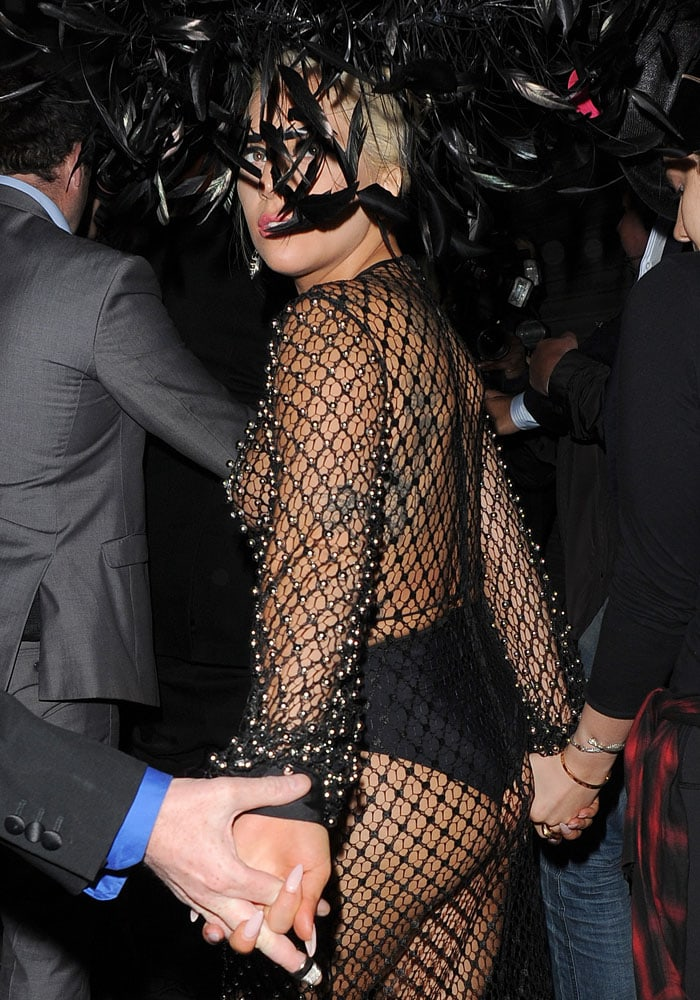Lady Gaga Saint Laurent 12