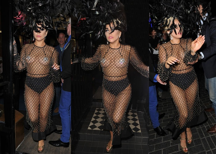 Lady Gaga Saint Laurent 4
