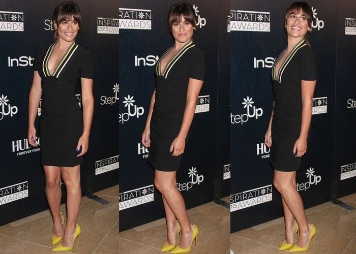 Lea Michele at the 12th Annual Inspiration Awards red carpet luncheon at The Beverly Hilton Hotel to benefit Step Up Women's Network in Los Angeles on June 5, 2015