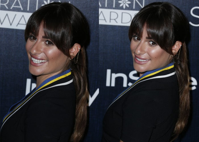 Lea Michele accessorized withjewelry byHarry Kotlar and Djula Jewelry