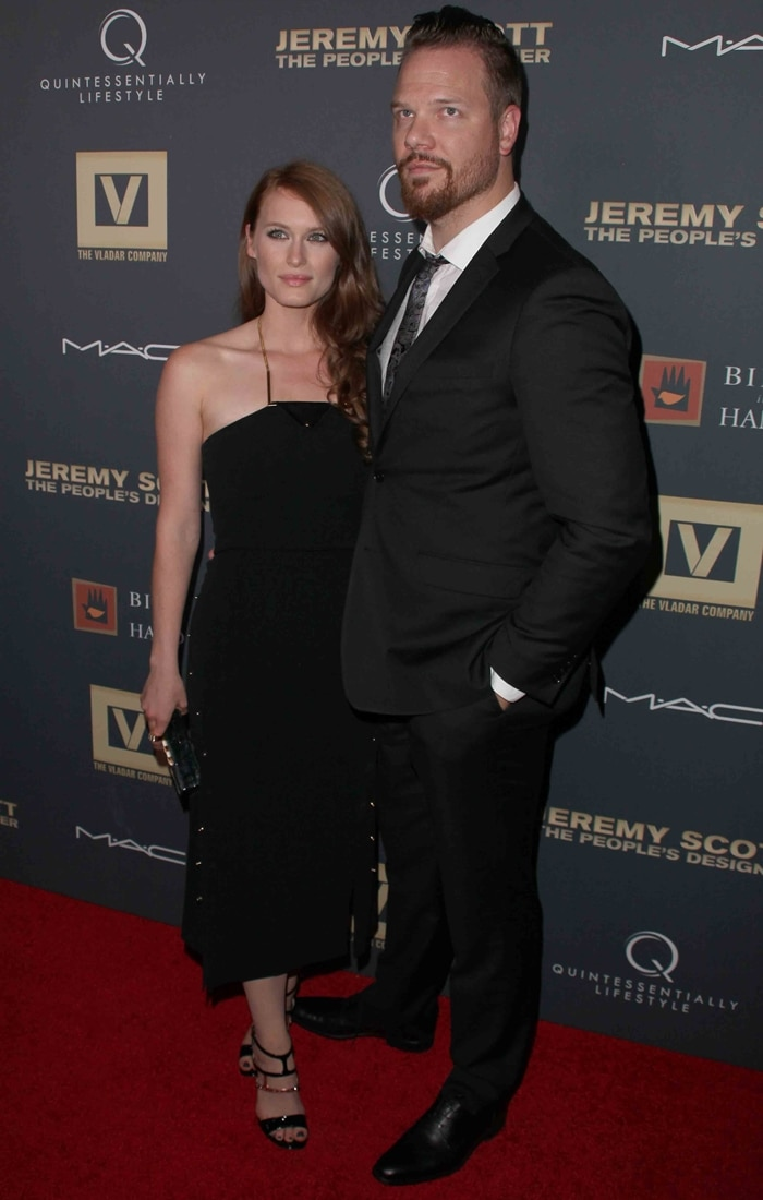 Leven Rambin and Jim Parrack at the premiere of Jeremy Scott: The People's Designer
