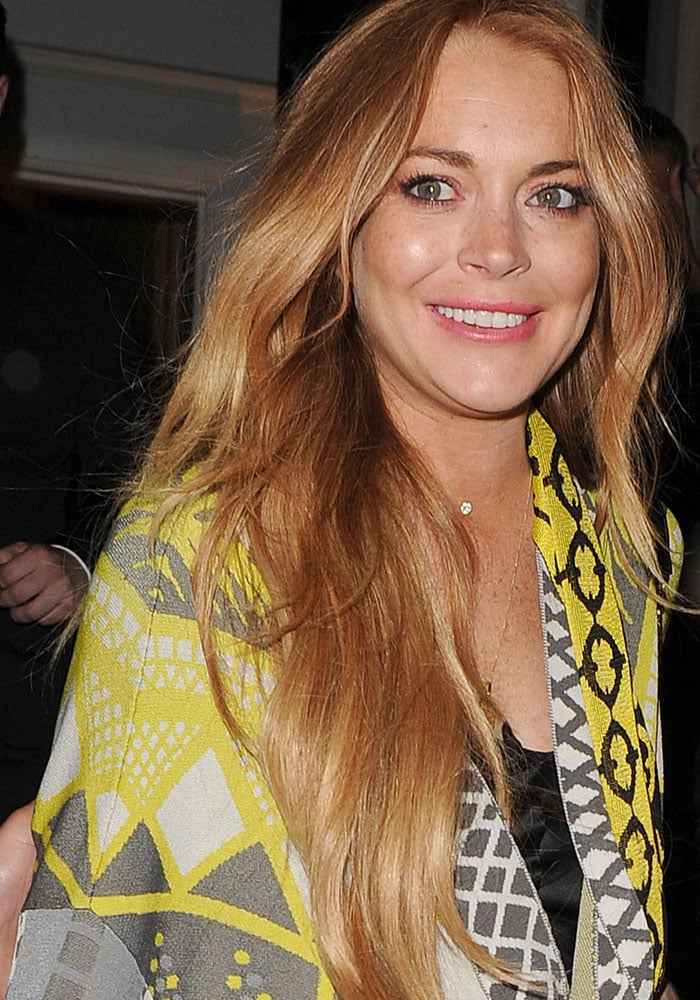 Lindsay Lohan at the i-D 35 x Jeremy Scott for Moschino anniversary party in London, England, on June 24, 2015