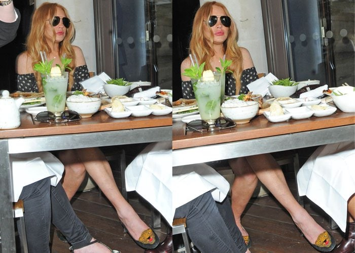 Lindsay Lohan wore Charlotte Olympia's Mascot pumps
