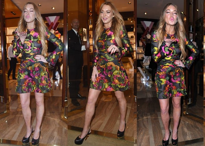 Lindsay Lohan seems to have recovered from Chikungunya disease