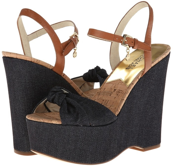MICHAEL Michael Kors Benji Wedge Dark Denim