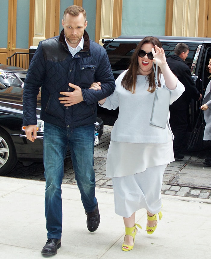 Melissa McCarthy heading to Crosby Hotel after discussing her weight loss secrets