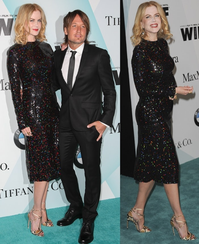 Nicole Kidman and Keith Urban at Women in Film's 2015 Crystal + Lucy Awards held at the Hyatt Regency Century Plaza in Century City on June 16, 2015