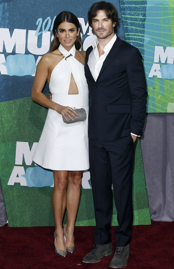 Ian Somerhalder and Nikki Reed at the 2015 CMT Music Awards